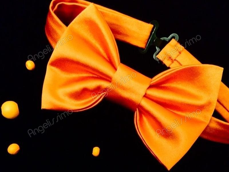 Бабочка из оранжевого атласа от BowtiEsta