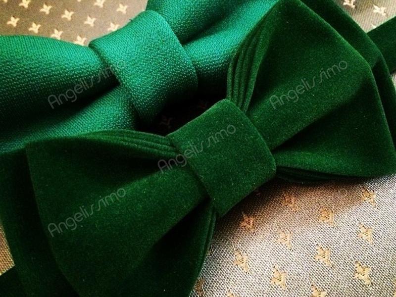 Бабочка из зеленой ткани от BowtiEsta