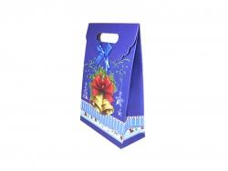 Новогодняя сумка с дизайном фиолетового цвета