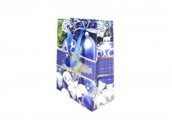 Новогодняя сумка с дизайном синего цвета