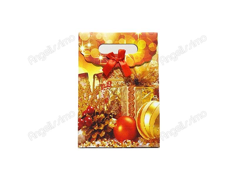 Новогодняя сумка с дизайном золотого цвета
