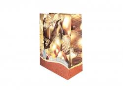 Новогодняя сумка с дизайном золотого цвета с блестками