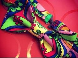 Пестрая бабочка из ткани от BowtiEsta