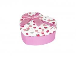 Подарочная коробка бело-розового цвета