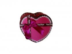 Подарочная коробка розового с коричневым цветов