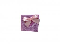 Подарочная коробка розового цвета с бантом малая