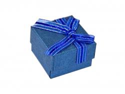 Подарочная коробка синего цвета