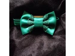 Зеленая бабочка с кружевом от BowtiEsta