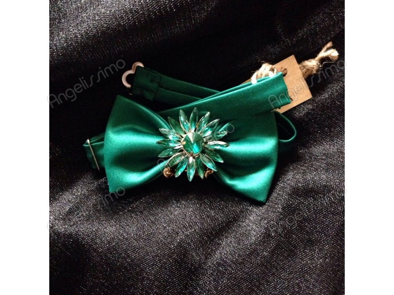 Зеленая бабочка с украшением от   BowtiEsta